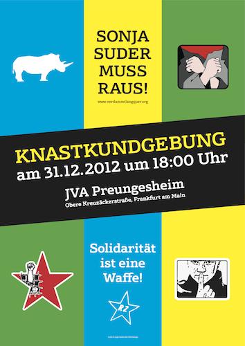 Plakat für Sylvester Kundgebung